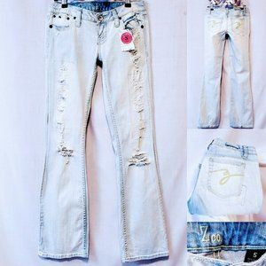 🍒ZCO Stone Wash Distressed jeans size 5💋